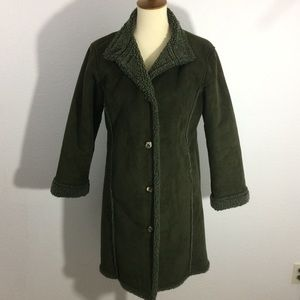L.L. Bean Faux Suede Sherpa Lined Coat